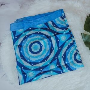 V. FRAAS blue silk scarf